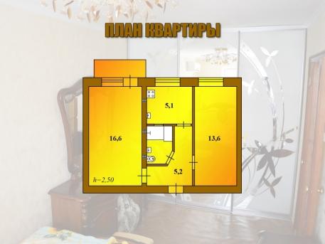 Двухкомнатная квартира  в районе вокзала Евпатории